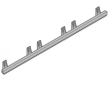 Рейка зубчатая пластмассовая S6, 1 м