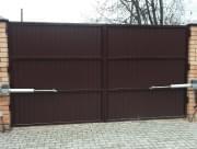 Распашные ворота сварная конструкция и приводы Хёрманн