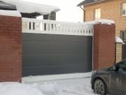 Сдвижные ворота из алюминиевых профилей ADS400