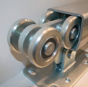 Комплект для откатных ворот массой до 450 кг (полимерные ролики)
