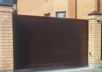 сдвижные алюминиевые ворота ADS400 с заполнением сэндвич-панель